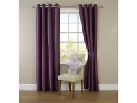 Satin purple curtains immaculate quality 66x72 drop