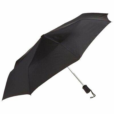 Black Umbrella, 42 inches Rain Snow Sun Travel Mini Folding