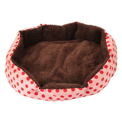 New Cotton Mat Pet Dog Bed Puppy Cat Fleece Warm Cozy Nest House Plush Pad Pink