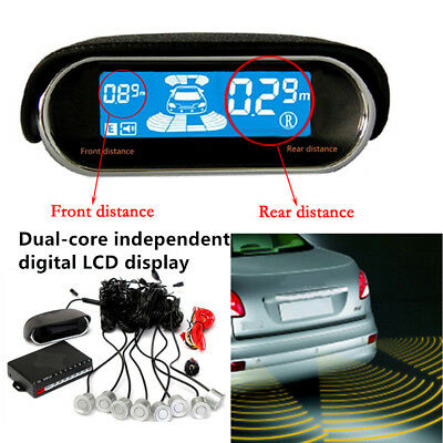 Dual-core Double LCD Display 8 Parking Sensor Security Car Reverse Radar Alarm segunda mano  Embacar hacia Argentina