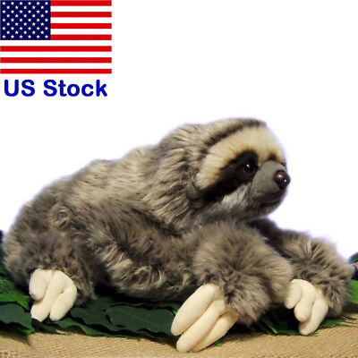 30cm Lifelike Three Toed Sloth Plush Toy Soft Stuffed Animal Doll