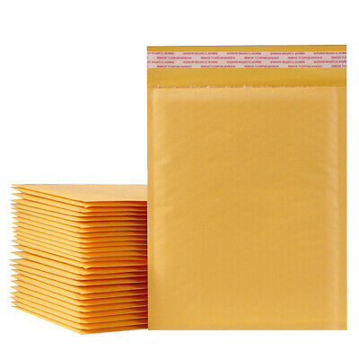 25-200pc Kraft Bubble Mailer Padded Shipping Envelope Bags Self Sealing All Size