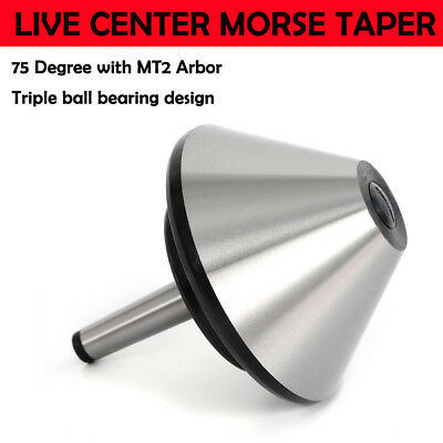 5 Mt2 Bull Nose Live Center Morse Taper Arbor Bearing Center 75 Degree 120mm
