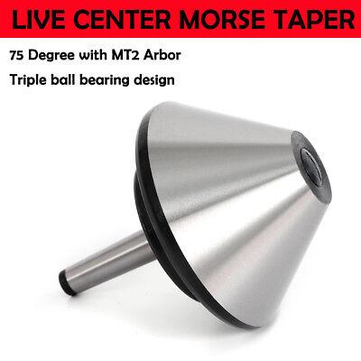 5 Mt2 Bull Nose Live Center Morse Taper Arbor Bearing Center 75 Degree 120mm