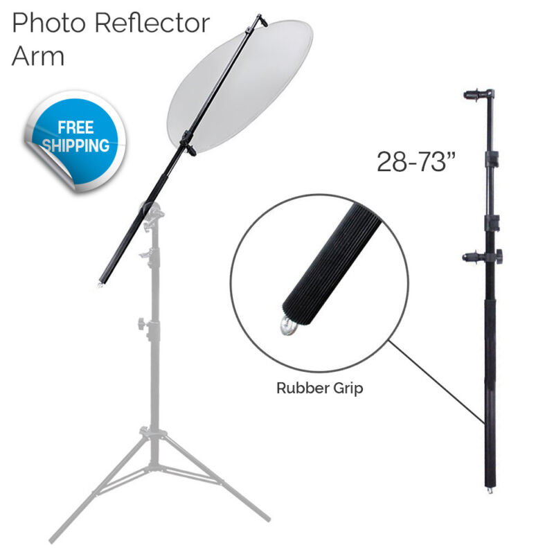 Photo Arm Holder Photography Reflector Bracket Boom Bar with Rubber Hand Grip
