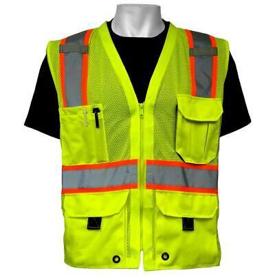 Global Glove Type R Class 2 Surveyor Safety Vest Yellowlime