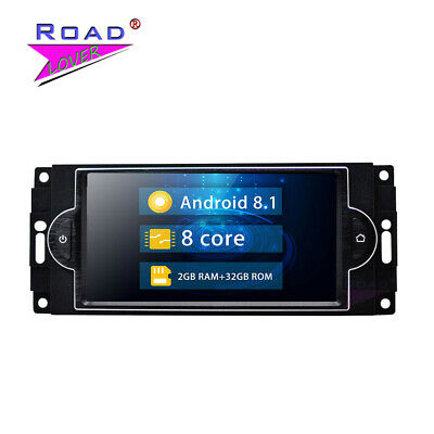 Android 8.1 Car audio for JEEP GRAND CHEROKEE 2005-2010 Radio Navigation