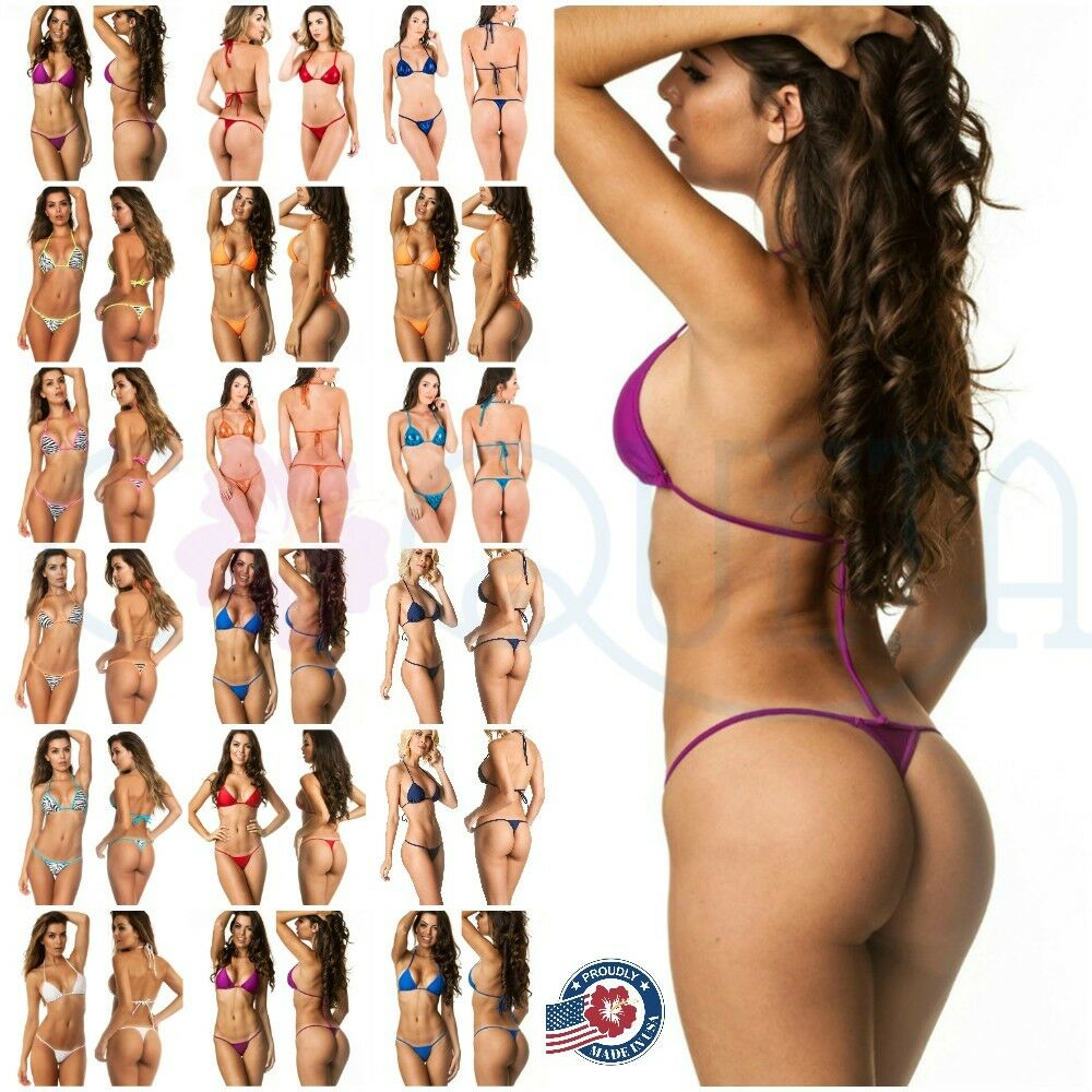 3ce528dc9  Item For sale  New with tags   LADIES teeny COQUETA Brazilian micro Thong  bikini Swimsuit G String SET SOLIDS