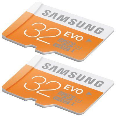 2x 32GB Samsung EVO 48MB/s Class 10 UHS-I Micro SD SDHC MicroSD Speicherkarte