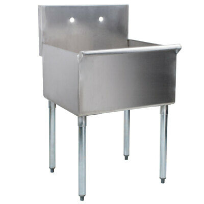 Stainless Steel Utility Sink Commercial Laundry Tub Freestanding Single Bowl 24