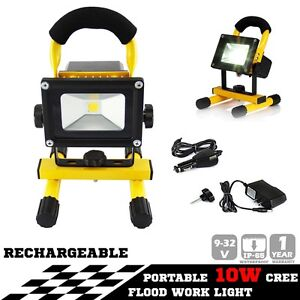 10W PORTABLE LED WORK LIGHT RECHARGEABLE FLOOD LIGHT LAMP CAMPING Hope Valley Tea Tree Gully Area Preview
