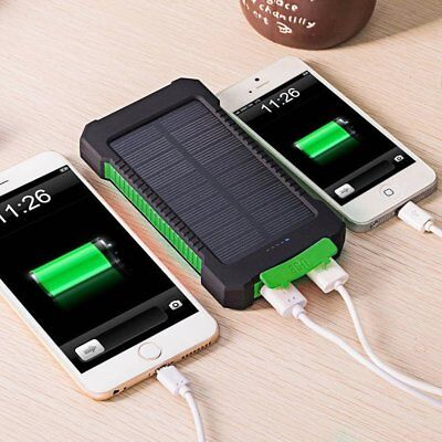 20000mAh Power Bank Waterproof Dual USB Portable Solar Battery Charger Solar USA
