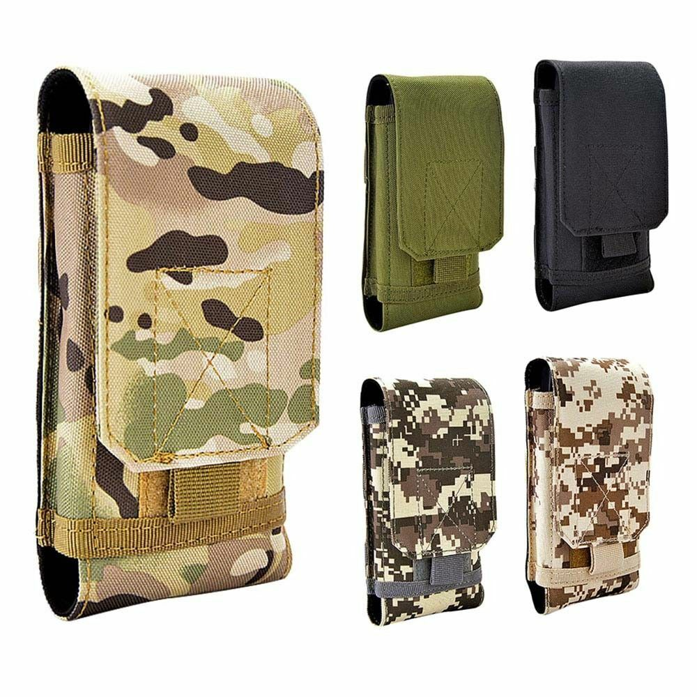 EDC Tactical Military MOLLE Phone Pouch Waist Clip-On Holster Bag with Belt Clip Bags