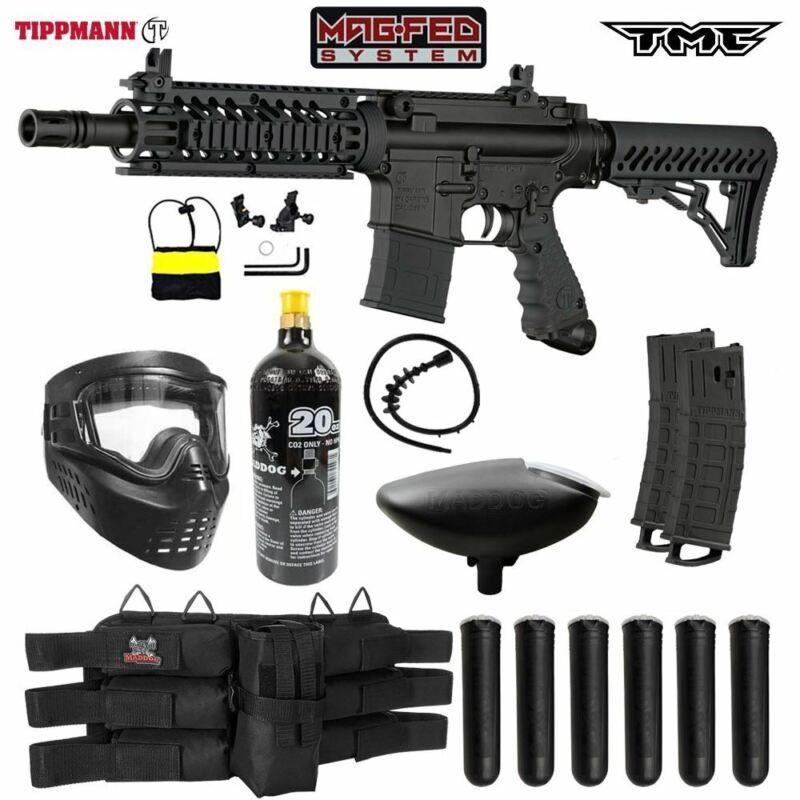 Maddog Tippmann TMC MAGFED Titanium CO2 Paintball Gun Marker Starter Kit - Black