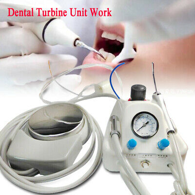 New Portable Dental Turbine Unit Work With 3-way Syringe Handpiece Water Bottle