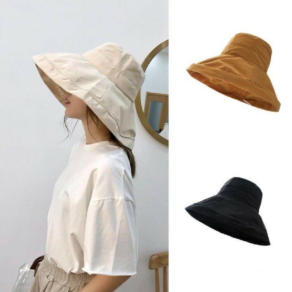 Damen UV Schutz Hut Sonnenhut Fischerhut Breite Krempe Anglerhut Faltbar