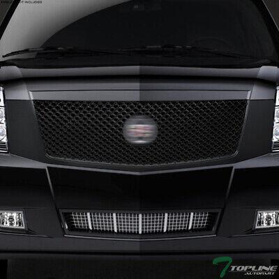 Topline For 2007-2014 Cadillac Escalade Mesh Front Hood Bumper Grille -Matte Blk