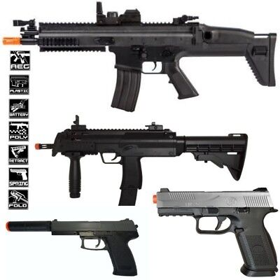 Best Deal Airsoft 2 AEG FN Herstal SCAR-L Full Auto D89 2 Spring Pistols (Best Airsoft Guns)