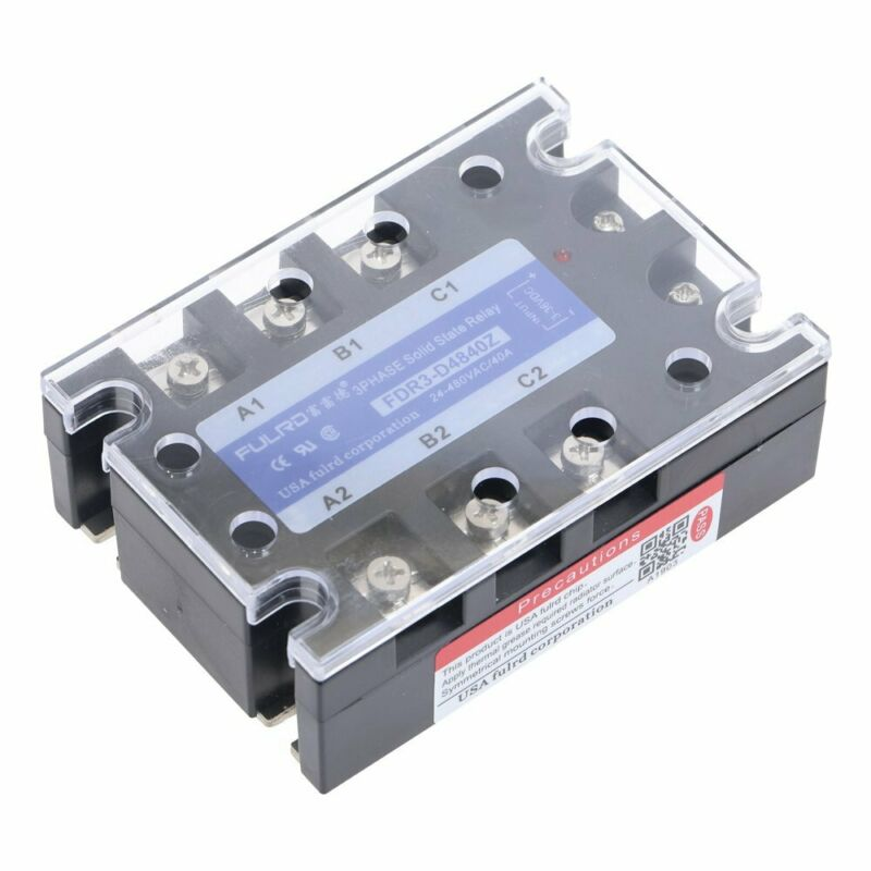 Three Phase Solid State Relay 3-36V DC Control AC 24-AC480V MGR-3 JGX-3 DC-AC