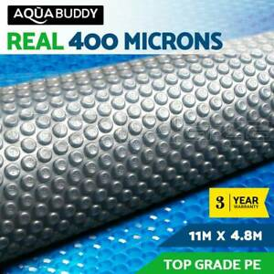 11MX4.8M Solar Swimming Pool Cover 400 Micron Outdoor Bubble Blanket