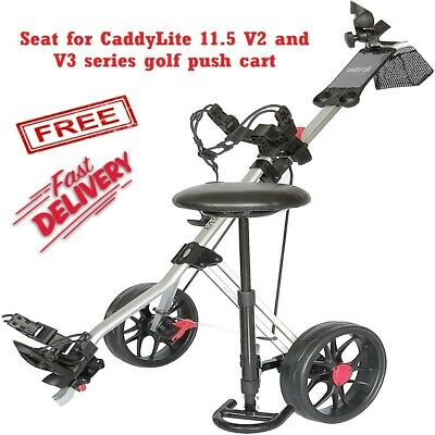 Caddytek Golf Push Cart Removable Seat - Lightweight Compact & Easy to Use Ou...