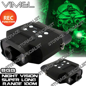 Night Vision Camera Goggles Binocular Monocular Hunting Digital NV Security 8GB