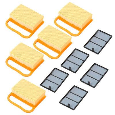 5 Air Filter Set For Stihl Ts410 Ts420 Ts480 Ts500i Concrete Cut-off Saws New