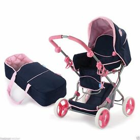 REDUCED PRICE BRAND NEW UNOPENED DOLLS PRAM, BUGGY, CARRY COT RETAIL £39.95
