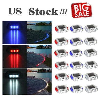LOT Solar LED Pathway Driveway Lights Dock Step Road Lamps Safety Marker N4F5 Solar Driveway Lights