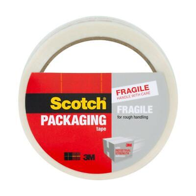 Scotch Packaging Tape Fragile Handle With Care 1.88 In X 43.7 Yd 4-pack