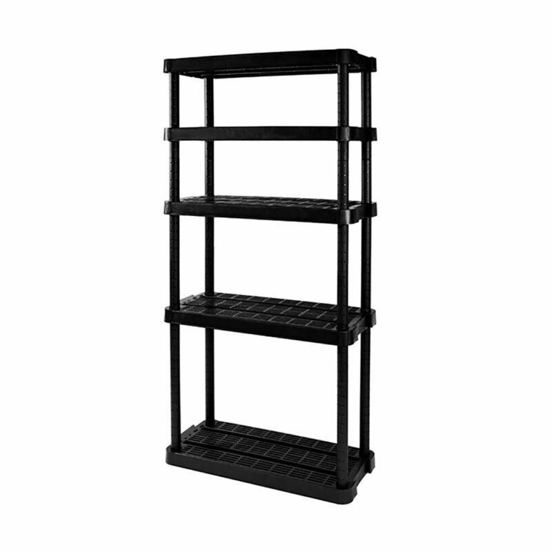 Gracious Living Adjustable Ventilated Storage Shelving Unit, 5 Shelf (Open Box)