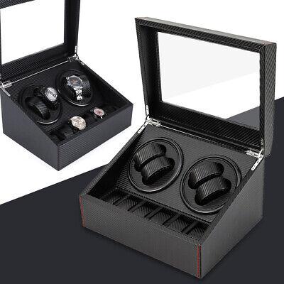 4+6 Watch Winder Automatic Rotation Watch Display Box Carbon Fiber Storage Case