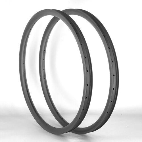 "SALE ULTRALIGHT 35mm Width 29"" Carbon Fiber Mountain Bike Clincher Rims 1PAIR"