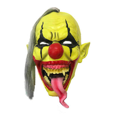 Halloween Clown Mask Gruslige Scary Horror Clown Masken Cosplay Latex Eye Masker