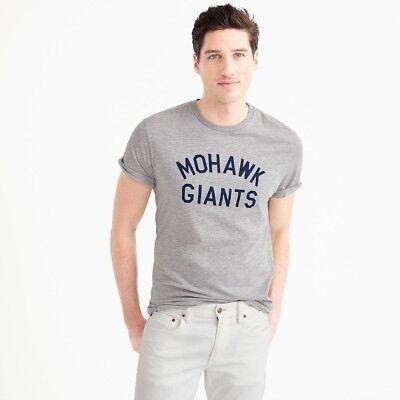 Ebbets Field Flannels for J. Crew Mohawk Giants Men's Baseball T-Shirt USA NEW L