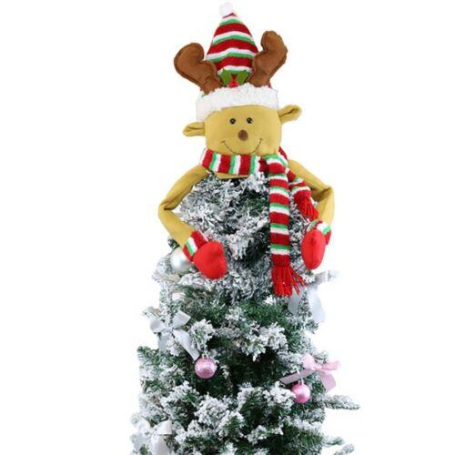 Christmas Tree Top Topper Cover Snowman Hat Xmas Tree Ornaments Xmas Home Decor