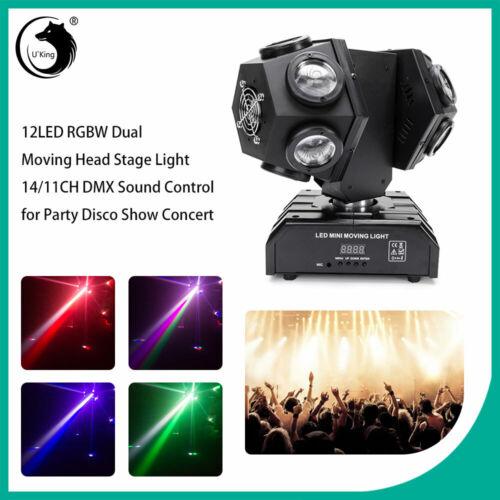 12LED Dual Moving Head RGB Stage Lighting lights DMX-512 DJ