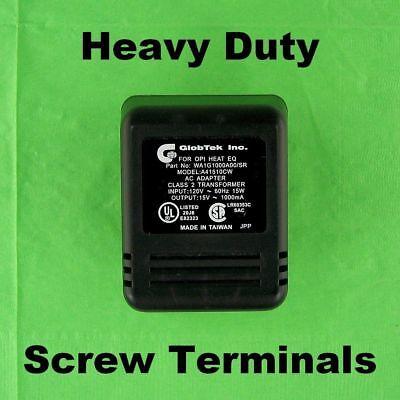 Heavy Duty 15 Vac 1 Amp Power Adapter Wall Transformer Screw Terminal 15v 1000ma
