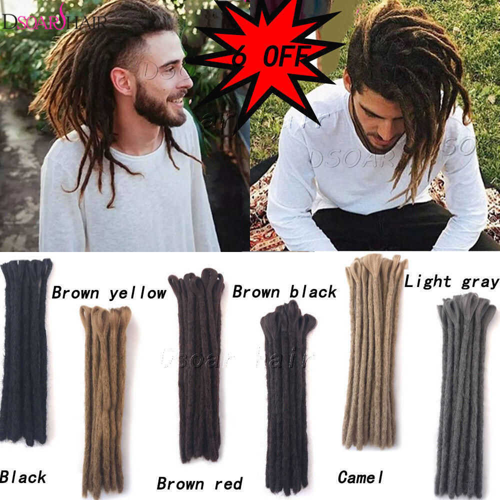 12 Short Synthetic Dreadlocks Twist Crochet Braid Dreads Men Hair