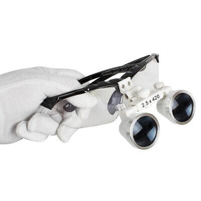 Black Frame Dental Surgical Binocular Loupes Magnifer 2.5x 420mm Glasses Tool Us