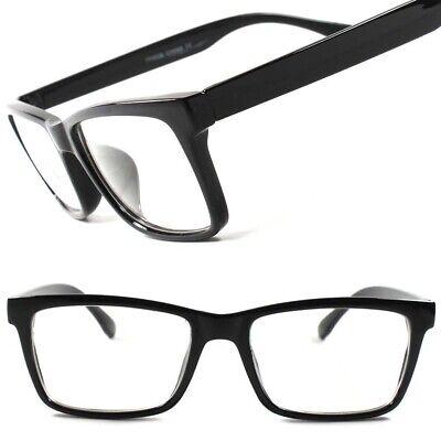 Stylish Mens Womens Nerd Geek Black Rectangle Clear Lens Eye Glasses (Stylish Mens Frames)