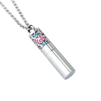 1X MEN Aromatherapy Perfume Necklace Locket Essential Oil Di