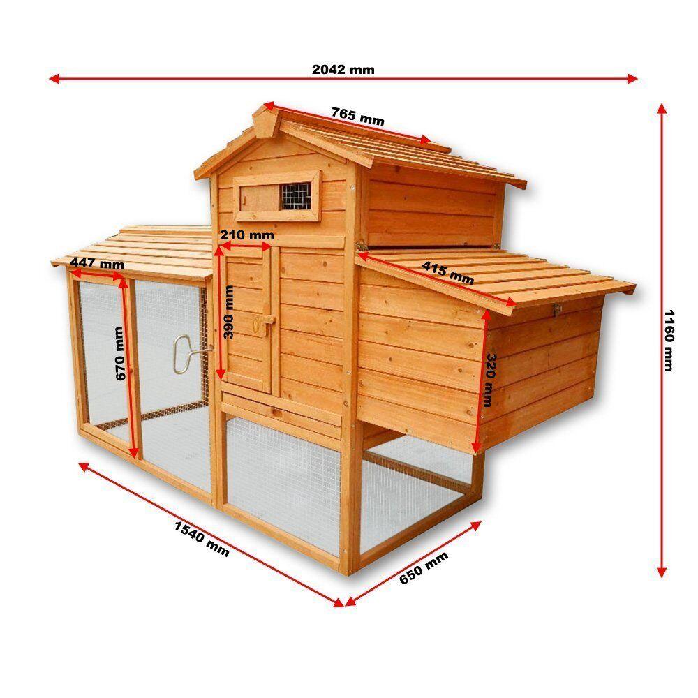 poulailler clapier cage lapin xxl en bois cabane pour poule avec pondoir eur 189 90. Black Bedroom Furniture Sets. Home Design Ideas