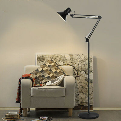 LED Standing Floor Lamp Reading Light Adjustable Goose Neck Home Office Bright