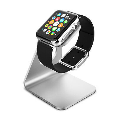 Apple Watch series 1 & 2 Charging Dock, Stand Bracket Holder Aluminum - Silver
