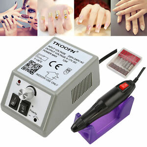 TKOOFN-Kit-Ponceuse-Pour-Ongles-Prof-Electrique-Lime-Ongles-Manucure-Blanc