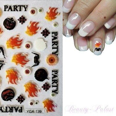 Halloween NailArt Sticker Aufkleber Karneval Nagelsticker Nageldesign TattooA139 ()
