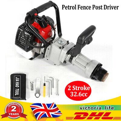 2 Stroke Petrol Fence Post Driver 32.6cc 900W Single Cylinder Farm Fencing Tool