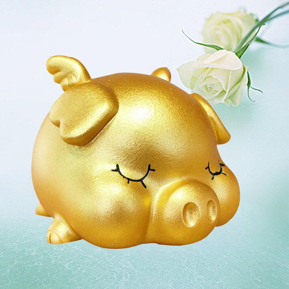 LLLucky Pig Shaped Piggy Bank Coin Bank Plastic Money Box Kids Cash Collectible Saving Box Green