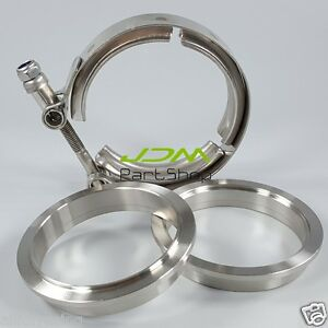 Turbo-Exhaust-Downpipe-3-0-039-039-3-0-Inch-V-Band-Clamp-76mm-V-Band-Flange-Kit